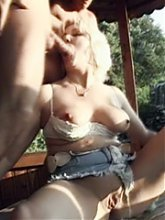 Mature blondie Venus gets herself two fuckbuddies and gets her ripe pussy slammed hard live