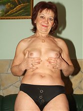 Explicit live cam show with a chubby grandma named Paula riding a younger guys cock